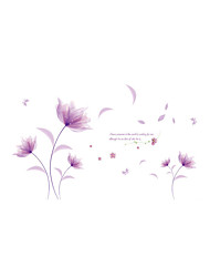 Wall Stickers Wall Decals Style Purple Flowers in The Wind PVC Wall Stickers