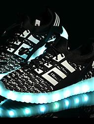 Da ragazzo Sneakers Comoda Primi passi Scarpe luminose Tulle Primavera Estate Autunno Sportivo Casual LED Basso Nero Blu Rosa Verde Chiaro