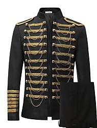 cheap -Steampunk®Men's Luxury Slim Fit Stylish Suit Blazer Jacket & Trousers Set 2-Piece