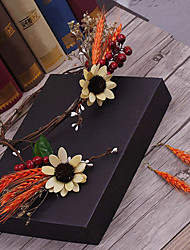 Flax Fabric Headpiece-Wedding Special Occasion Casual Outdoor Wreaths Hair Pin 4 Pieces