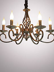 cheap -Retro Chandelier Ambient Light - Candle Style, 110-120V 220-240V Bulb Not Included