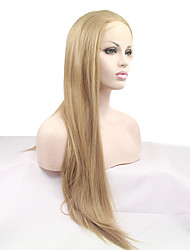 cheap -Synthetic Lace Front Wig Straight Blonde Women's Lace Front Carnival Wig Halloween Wig Natural Wigs Synthetic Hair