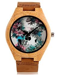 cheap -Men's Kid's Sport Watch Dress Watch Fashion Watch Wrist watch Bracelet Watch Wood Watch Japanese Quartz Punk Genuine Leather Band Vintage