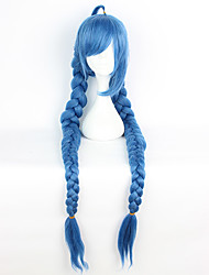 cheap -Cosplay Wigs Cosplay Cosplay Blue Extra Long Anime Cosplay Wigs 135 CM Heat Resistant Fiber