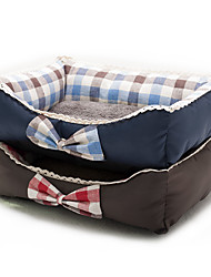 Cat Dog Bed Pet Mats & Pads Plaid/Check Soft Red Blue