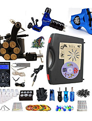 cheap -BaseKey Tattoo Machine Professional Tattoo Kit - 3 pcs Tattoo Machines, Professional LED power supply Case Included 2 rotary machine