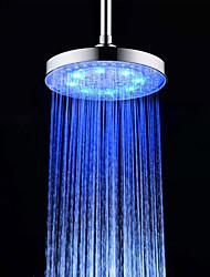 Contemporáneo Ducha lluvia Cromo Característica for  LED Efecto lluvia , Alcachofa de la ducha