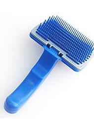 Chat Chien Toilettage Brosse Peignes Brosses Portable Bleu