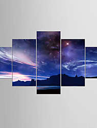 Giclee Print Landscape Modern Realism,Five Panels Canvas Any Shape Print Wall Decor For Home Decoration