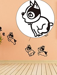 DIY Funny Cute Dog Stickers Wall Stickers Home Decoration Bedroom Parlor Decoration Hot