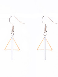 Non Stone Geometric Dangle Earrings Jewelry Dangling Style Pendant Geometric Euramerican Fashion Daily Casual Copper 1 pair