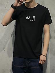 Die neuen Männer&# 39; s solide Farbe Buchstaben mj T-Shirt japanischen Modell