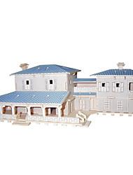 abordables -Kit de Bricolage Puzzles 3D Puzzle Jeux de Logique & Casse-tête Jouets Carré Bâtiment Célèbre Architecture Chinoise Maison Homme Femme