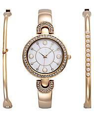Ceas Elegant Ceas La Modă Ceas de Mână Ceas Brățară Quartz Ștras Plin de Culoare Oțel inoxidabil BandăPunct Boem Perle Charm Brățară