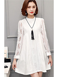 Female long-sleeved lace shirt spring models Korean version of spring 2017 new fashion blouse and long sections chiffon shirt