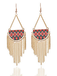 cheap -Women's Drop Earrings Jewelry Unique Design Tassel Costume Jewelry Bohemian Acrylic Alloy Geometric Jewelry For Party Daily Casual