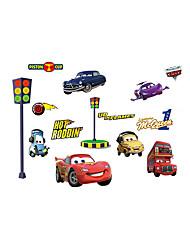 abordables -Paysage Bande dessinée Transport Stickers muraux Autocollants avion Autocollants muraux décoratifs, Vinyle Décoration d'intérieur Calque