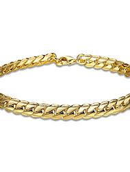Per donna Da ragazza Bracciali a catena e maglie Cristallo Amicizia Di tendenza Placcato in oro Placcato oro rosa Serpente Gioielli Per