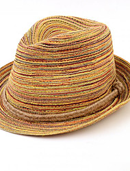 Women Bohemian Summer Twisted Braided Woven Straw Beach Hat