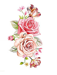 cheap -Pattern / Tattoo Sticker Arm / Shoulder Temporary Tattoos 1 pcs Flower Series Body Arts