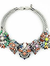 Недорогие -Жен. Пряди Ожерелья В форме цветка По заказу покупателя Euramerican Бижутерия Назначение Свадьба