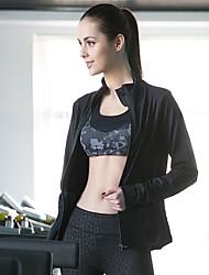 Per donna Tuta da ginnastica Manica lunga Traspirante Materiali leggeri Comodo Tuta da ginnastica Top sottomuta per Yoga Esercizi di