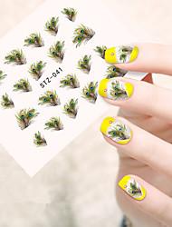 10pcs/set Nail Art Sticker  Water Transfer Sticker Makeup Cosmetic Nail Art Design