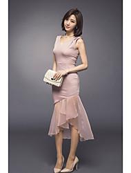 2017 spring new women's fashion boutique transparent mesh bag hip dress female spring chiffon skirt US