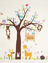 Wall Stickers Wall Decals Style Creative Cartoon Monkey Garden PVC Wall Stickers