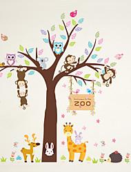 cheap -Wall Stickers Wall Decals Style Creative Cartoon Monkey Garden PVC Wall Stickers