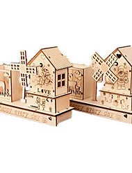 cheap -Music Box Wood House Gift Unisex Gift