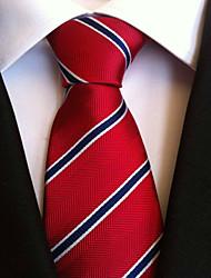 abordables -Homme Rétro Soirée Travail A Rayures Cravate Rayé