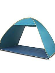 3-4 persone Tenda Igloo da spiaggia Singolo Tenda da campeggio Una camera Tenda automatica Resistente ai raggi UV per Spiaggia Campeggio
