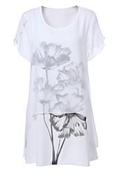 billige -Dame A-linje Kjole - Blomstret Mini