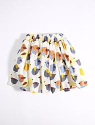Girls' Casual/Daily Print Skirt-Cotton Summer