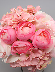 Artificial Peony Bouquet Wedding Decoration Mariage Flower Fake Silk Rose Real Touch Flower Bridal Bouquet Party Home Decor