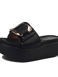 economico -Da donna Sandali Club Shoes PU (Poliuretano) Primavera Estate Casual Formale Club Shoes Piatto Nero Verde Rosa 5 - 7 cm
