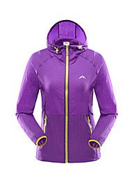 Women's Hiking Jacket Quick Dry Windproof Ultraviolet Resistant Dust Proof Breathable Sunscreen Lightweight Jacket Top for Camping /