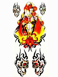 Tattoo Stickers Totem Series Pattern Lower Back WaterproofWomen Men Teen Flash Tattoo Temporary Tattoos