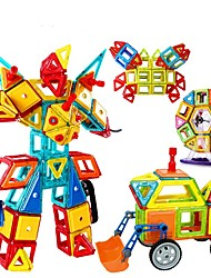 cheap -Magnetic Blocks Building Blocks 128pcs Car Robot Ferris Wheel Gift Magnetic DIY 3D Girls' Boys' Toy Gift