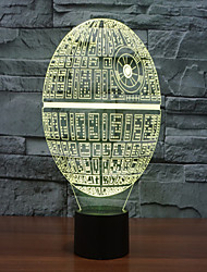 cheap -Death Star Colorful 3 D Light LED Acrylic Stereo And Light Touch Light