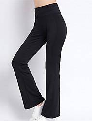 billige -Dame Bredde bukseben Yoga bukser Sport Mode Højtaljede Tights / Leggins Pilates, Fitness, Træningscenter Sportstøj Hurtigtørrende, Åndbart Høj Elasticitet