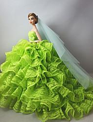 Hochzeit Kleider Für Barbie-Puppe Für Mädchen Puppe Spielzeug