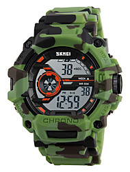 cheap -Skmei® Men's Outdoor Sports LED Digital Multifunction Camouflage Wrist Watch 50m Waterproof Assorted Colors