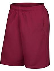 baratos -Homens Bolsos Shorts de Corrida - Cinzento, Vermelho, Azul Esportes Roupas Esportivas