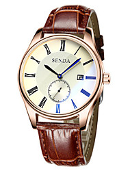 cheap -Men's Wrist Watch Large Dial Leather Band Charm / Casual / Fashion Brown