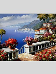 cheap -Oil Paintings Modern Landscape Style Canvas Material With Wooden Stretcher Ready To Hang Size 60*90CM and 50*70CM .