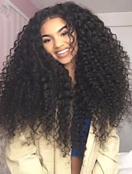 cheap -Virgin Human Hair Lace Front Wig Brazilian Hair Curly With Baby Hair 130% 150% 180% Density Glueless African American Wig Short Long Mid