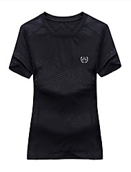 Homme Femme Tee-shirt de Randonnée Etanche Séchage rapide Respirable Tee-shirt Hauts/Top pour Escalade Eté M L XL XXL XXXL