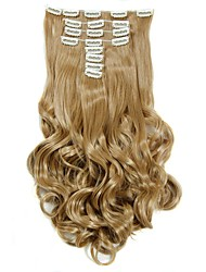 cheap -Synthetic Hair False Hair Extensions 20inch 150g Curly Hairpiece Heat Resistant Hair D1022  27#